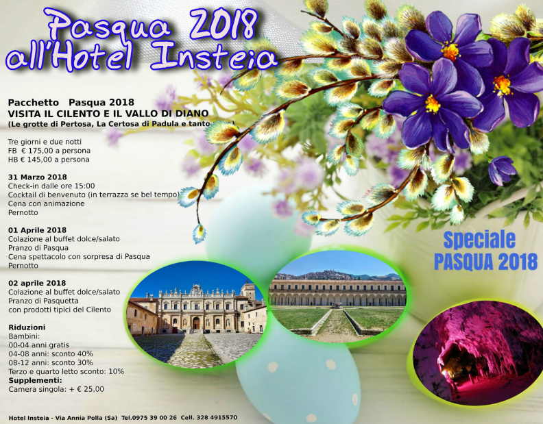 Speciale Pacchetto Pasqua 2018 all'Hotel Insteia