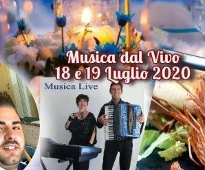 serate 18 e 19 luglio 2020 musica dal vivo